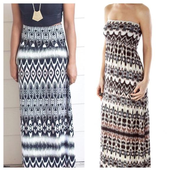 b94fe7cfb5 Cynthia Rowley Dresses   Skirts - Cynthia Rowley Womens 2 in 1 Ikat Maxi  Dress Skirt